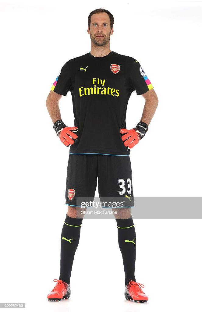 Arsenal's Petr Cech at London Colney on September 21, 2016 in St Albans, England.
