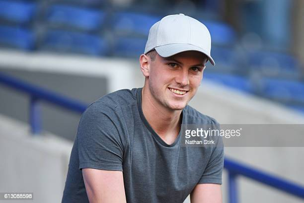 Arsenal's Rob Holding looks on during the Checkatrade Trophy group match between Bolton Wanderers and Everton under23s at Macron Stadium on August 30...