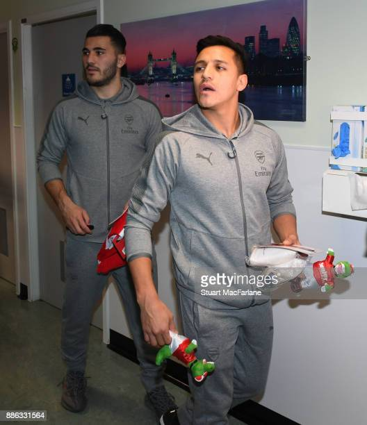 Arsenal's Sead Kolasinac and Alexis Sanchez on December 5 2017 in London England