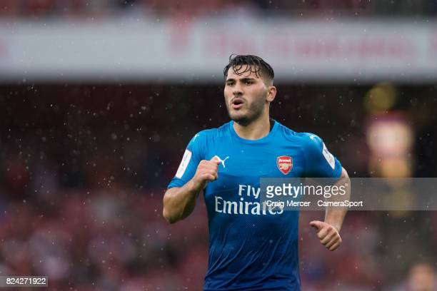 Arsenal's Sead Kolasinac during the Emirates Cup match between Arsenal and SL Benfica at Emirates Stadium on July 29 2017 in London England