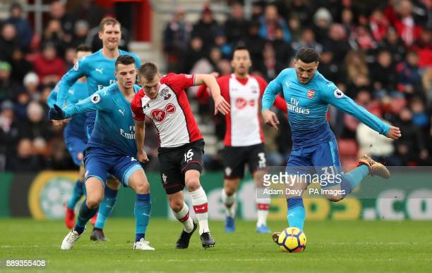 Arsenal's Sead Kolasinac during the Premier League match at St Mary's Stadium Southampton