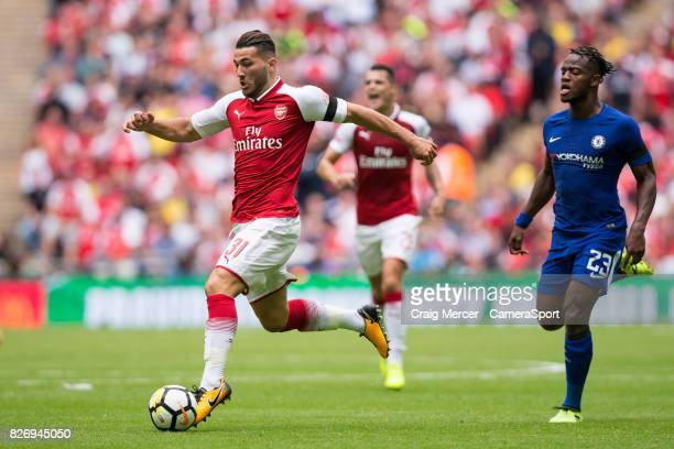 Arsenal's Sead Kolasinac in action during the FA Community Shield match between Arsenal and Chelsea at Wembley Stadium on August 6 2017 in London...