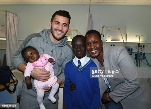 Arsenal's Sead Kolasinac visits the Whittington Hospital on December 5 2017 in London England