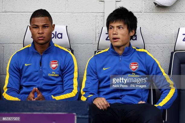 Arsenal's Serge Gnabry and Ryo Miyaichi