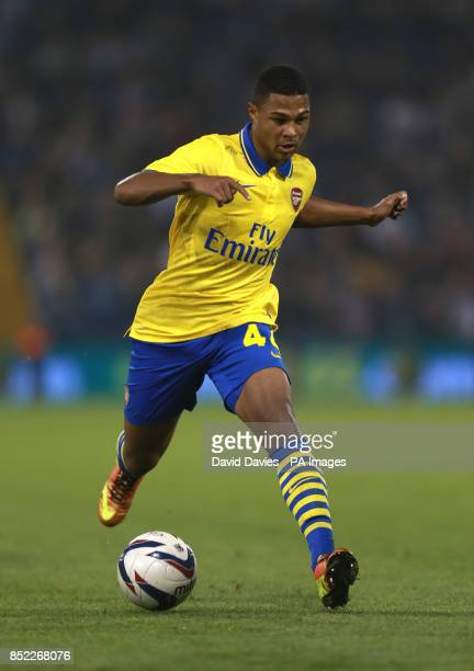 Arsenal's Serge Gnabry during the Capital One Cup Third round match at The Hawthorns West Bromwich