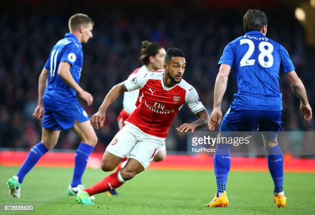 Arsenal's Theo Walcott during the Premier League match between Arsenal and Leicester City at Emirates stadium London England on 26 April 2017