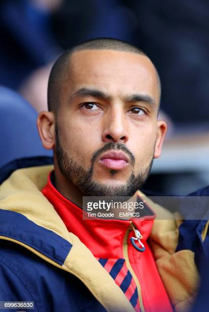 Arsenal's Theo Walcott on the bench