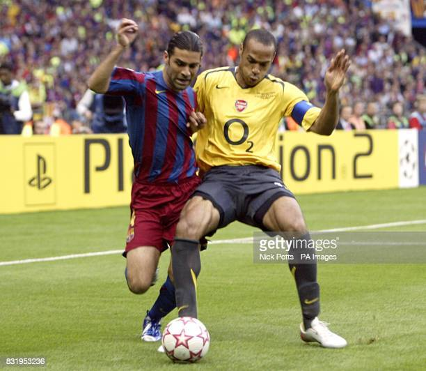 Arsenal's Thierry Henry and Barcelona's Rafael Marquez