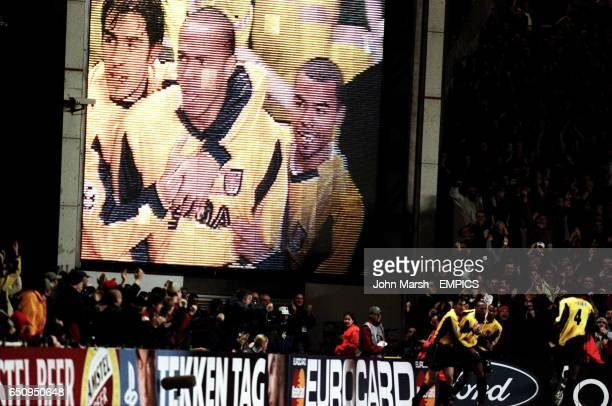 Arsenal's Thierry Henry celebrates his opening goal