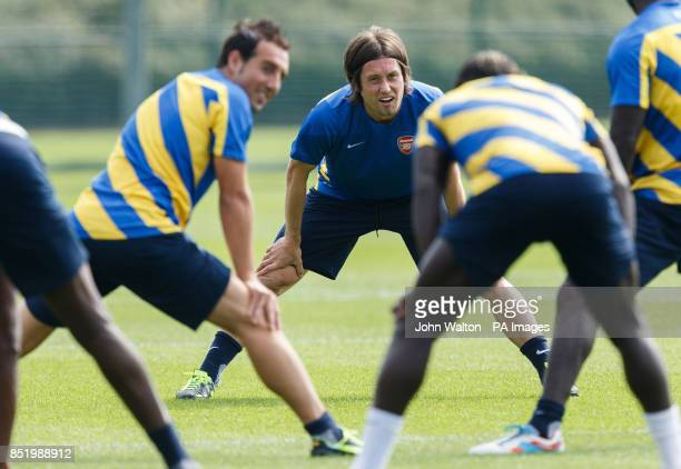 Arsenal's Tomas Rosicky during a training session at London Colney St Albans