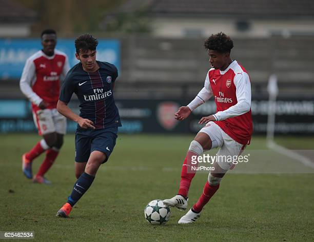 LR Arsenal's U19s Academy Head Foundation phase coach Ryan Garry and Ex Arsenal player Freddie Ljungberg now working for their Academy during UEFA...