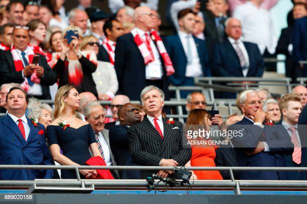Arsenal's US owner Stan Kroenke waits for kick off in the English FA Cup final football match between Arsenal and Chelsea at Wembley stadium in...