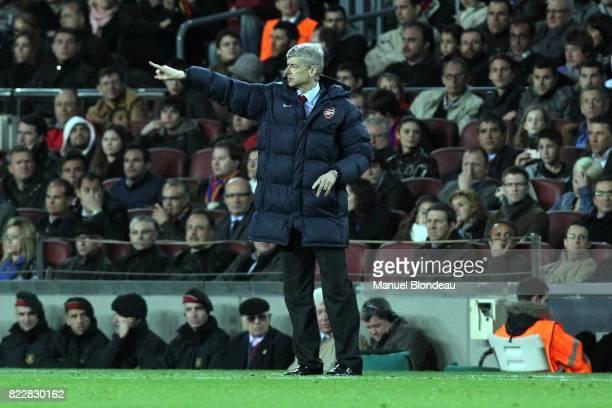 Arsene WENGER Barcelone / Arsenal 1/4 Finale Champions League