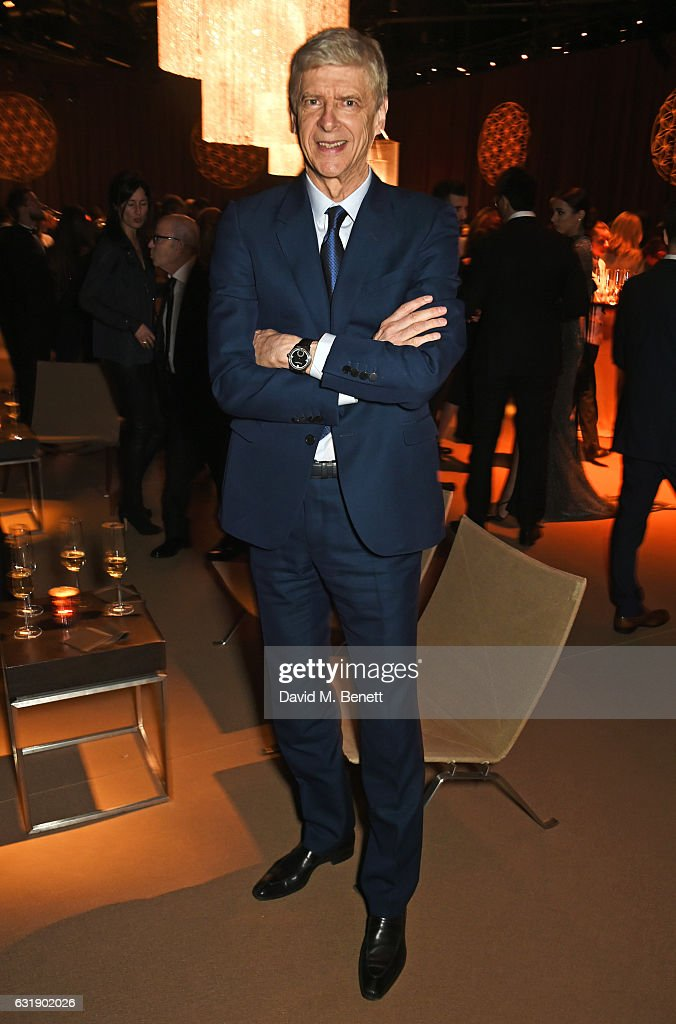 Arsene Wenger attends the IWC Schaffhausen 'Decoding the Beauty of Time' Gala Dinner during the launch of the Da Vinci Novelties from the Swiss luxury watch manufacturer IWC Schaffhausen at the Salon International de la Haute Horlogerie (SIHH) on January 17, 2017 in Geneva, .