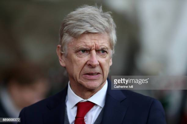 Arsene Wenger manager / head coach of Arsenal during the Premier League match between Southampton and Arsenal at St Mary's Stadium on December 10...