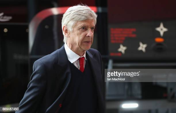 Arsene Wenger manager of Arsenal arrives prior to the Premier League match between Middlesbrough and Arsenal at Riverside Stadium on April 17 2017 in...