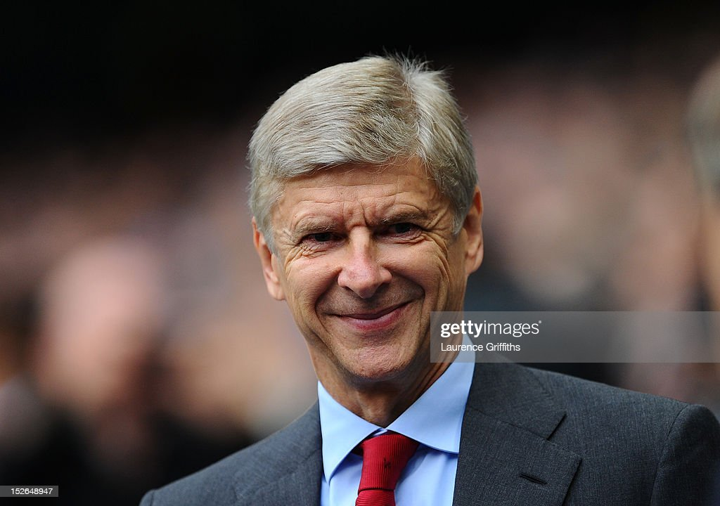 <a gi-track='captionPersonalityLinkClicked' href=/galleries/search?phrase=Arsene+Wenger&family=editorial&specificpeople=171184 ng-click='$event.stopPropagation()'>Arsene Wenger</a>, manager of Arsenal looks on ahead of the Barclays Premier League match between Manchester City and Arsenal at Etihad Stadium on September 23, 2012 in Manchester, England.