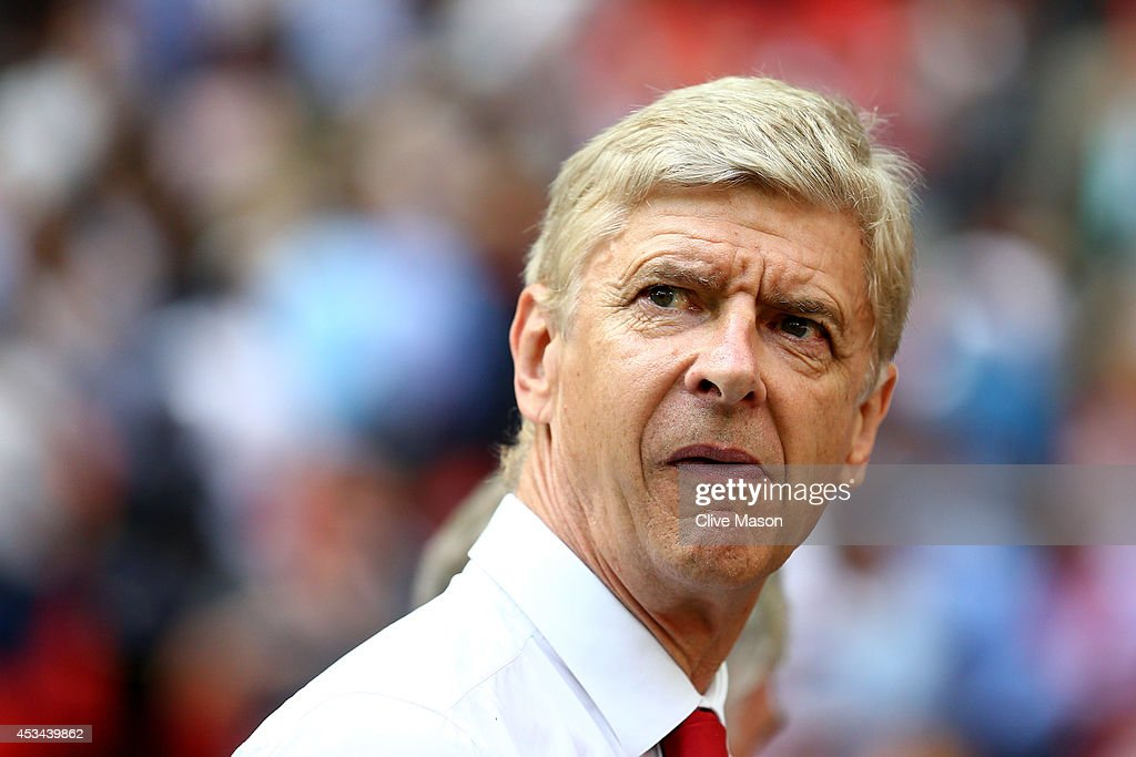 <a gi-track='captionPersonalityLinkClicked' href=/galleries/search?phrase=Arsene+Wenger&family=editorial&specificpeople=171184 ng-click='$event.stopPropagation()'>Arsene Wenger</a>, manager of Arsenal looks on during the FA Community Shield match between Manchester City and Arsenal at Wembley Stadium on August 10, 2014 in London, England.