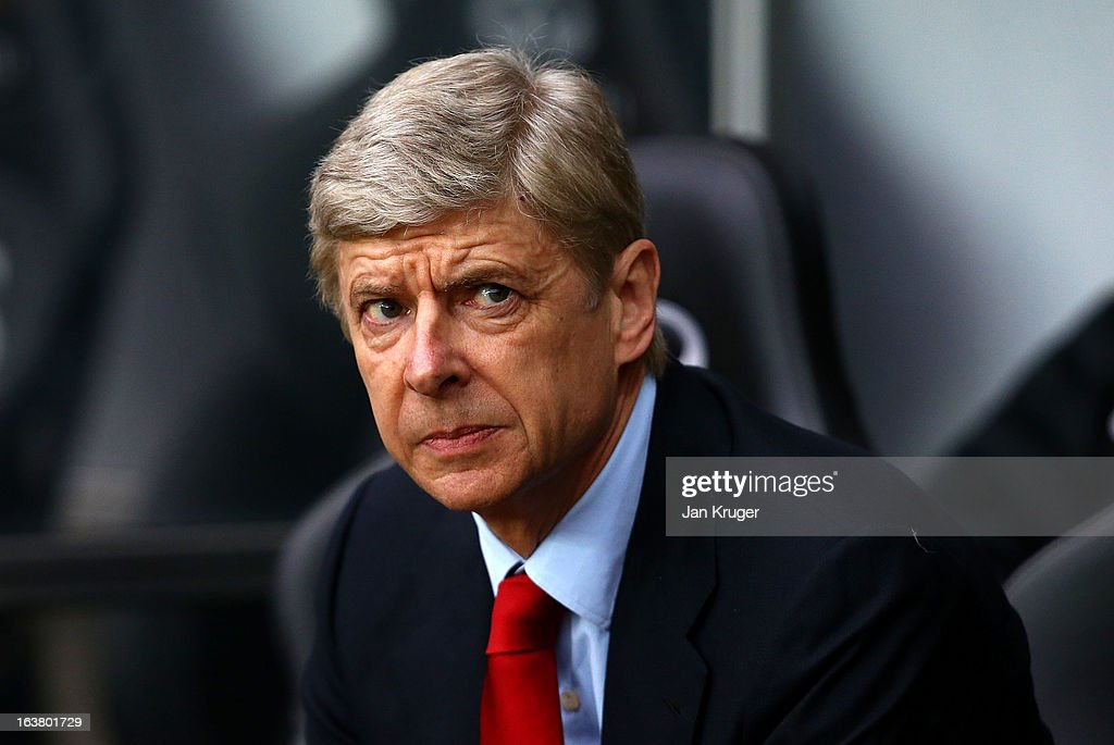 <a gi-track='captionPersonalityLinkClicked' href=/galleries/search?phrase=Arsene+Wenger&family=editorial&specificpeople=171184 ng-click='$event.stopPropagation()'>Arsene Wenger</a>, Manager of Arsenal looks on prior to kick off during the Barclays Premier League match between Swansea City and Arsenal at Liberty Stadium on March 16, 2013 in Swansea, Wales.