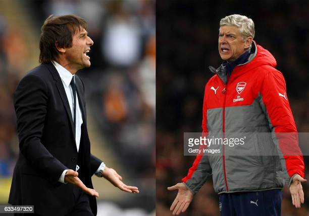 COMPOSITE OF TWO IMAGES Image numbers 611793716 and 611725776 In this composite image a comparision has been made between Antonio Conte Manager of...