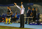 Arsene Wenger manager of Arsenal reacts during the UEFA Champions League Group F match between Dinamo Zagreb and Arsenal at Maksimir Stadium on...