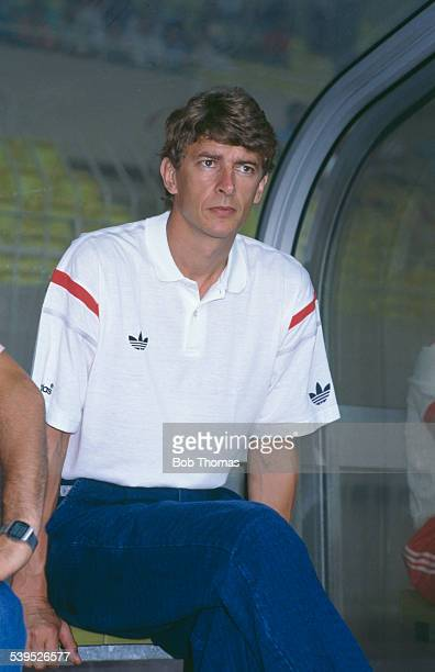 Arsene Wenger manager of the AS Monaco football team at a friendly match against HNK Hajduk Split 4th July 1987 Monaco won the match 21