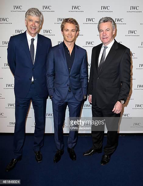 Arsene Wenger Nico Rosberg and Ottmar Hitzfeld attend the IWC Gala Dinner during the Salon International de la Haute Horlogerie 2015 at the Palexpo...