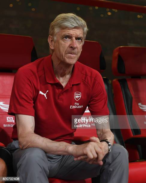Arsene Wenger the Arsenal MAnager before the match between Arsenal and Chelsea at Birds Nest on July 22 2017 in Beijing China