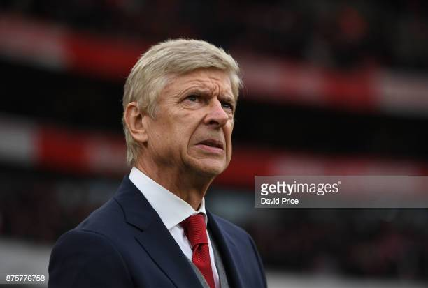 Arsene Wenger the Arsenal Manager before the Premier League match between Arsenal and Tottenham Hotspur at Emirates Stadium on November 18 2017 in...