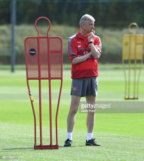 Arsene Wenger the Arsenal Manager during the Arsenal Training Session at London Colney on May 24 2017 in St Albans England