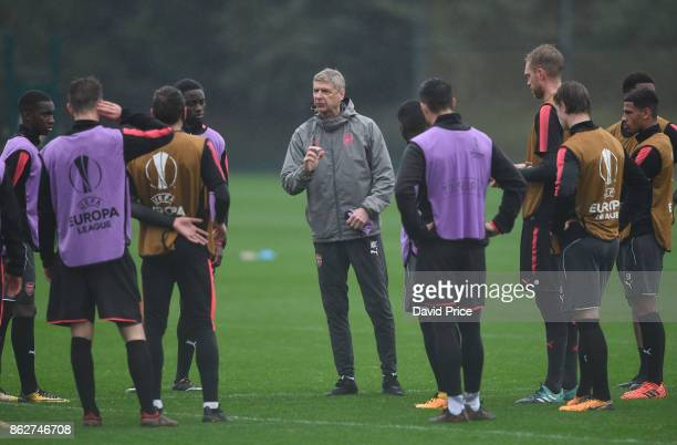 Arsene Wenger the Arsenal Manager during the Arsenal Training Session at London Colney on October 18 2017 in St Albans England