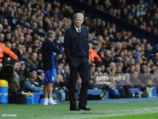 Arsene Wenger the Arsenal Manager during the Premier League match between West Bromwich Albion and Arsenal at The Hawthorns on March 18 2017 in West...