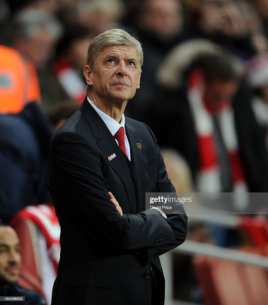 <a gi-track='captionPersonalityLinkClicked' href=/galleries/search?phrase=Arsene+Wenger&family=editorial&specificpeople=171184 ng-click='$event.stopPropagation()'>Arsene Wenger</a> the Manager of Arsenal before the Arsenal against Everton Premier League match at Emirates Stadium on December 8, 2013 in London, England.