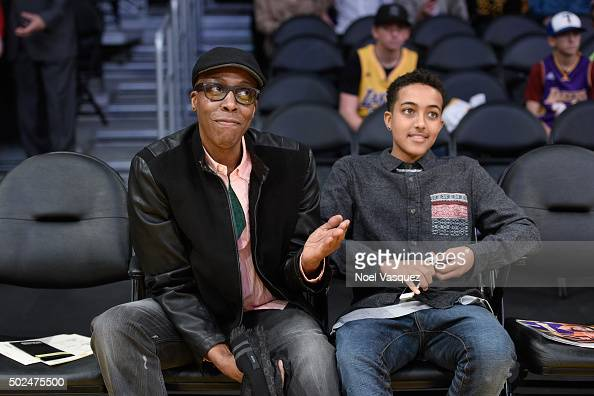 Celebrities At The Los Angeles Lakers Game Photos and ...