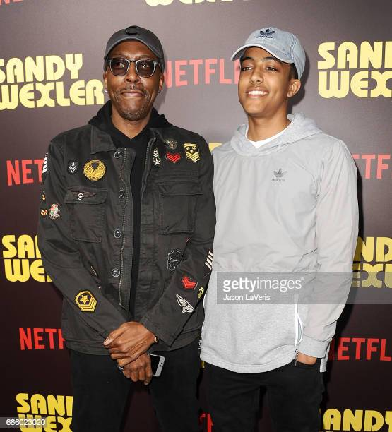 Arsenio Hall and son Arsenio Hall Jr attend the premiere of 'Sandy Wexler' at ArcLight Cinemas Cinerama Dome on April 6 2017 in Hollywood California