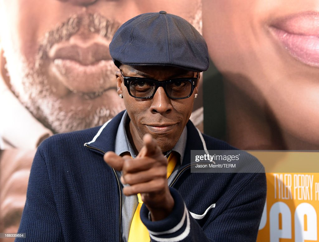 <a gi-track='captionPersonalityLinkClicked' href=/galleries/search?phrase=Arsenio+Hall&family=editorial&specificpeople=211441 ng-click='$event.stopPropagation()'>Arsenio Hall</a> arrives at the premiere of 'Peeples' presented by Lionsgate Film and Tyler Perry at ArcLight Hollywood on May 8, 2013 in Hollywood, California.