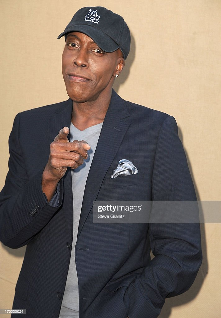 <a gi-track='captionPersonalityLinkClicked' href=/galleries/search?phrase=Arsenio+Hall&family=editorial&specificpeople=211441 ng-click='$event.stopPropagation()'>Arsenio Hall</a> arrives at the Television Critic Association's Summer Press Tour - CBS/CW/Showtime Party at 9900 Wilshire Blvd on July 29, 2013 in Beverly Hills, California.