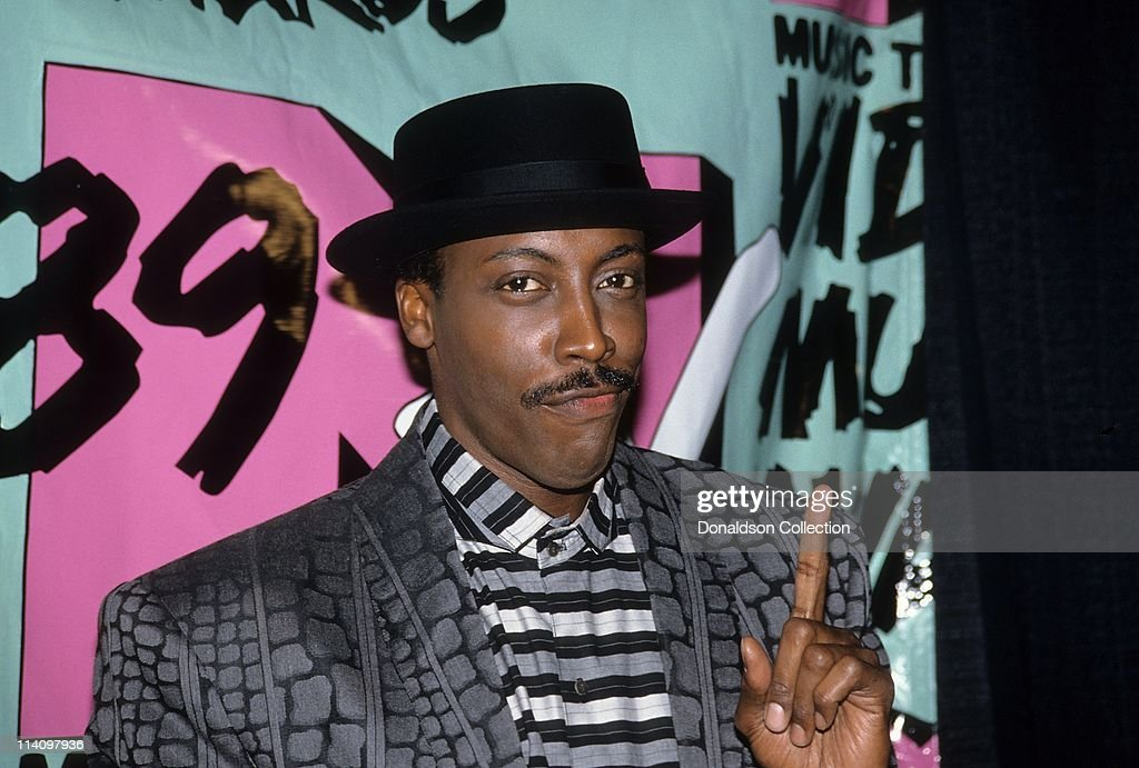 <a gi-track='captionPersonalityLinkClicked' href=/galleries/search?phrase=Arsenio+Hall&family=editorial&specificpeople=211441 ng-click='$event.stopPropagation()'>Arsenio Hall</a> poses for a portrait in September 6, 1989 in Los Angeles, California. Universal Amphitheatre.
