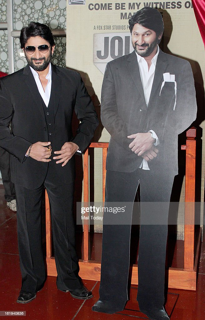 Arshad Warsi promotes film Jolly LLB at Cinemax in Mumbai.