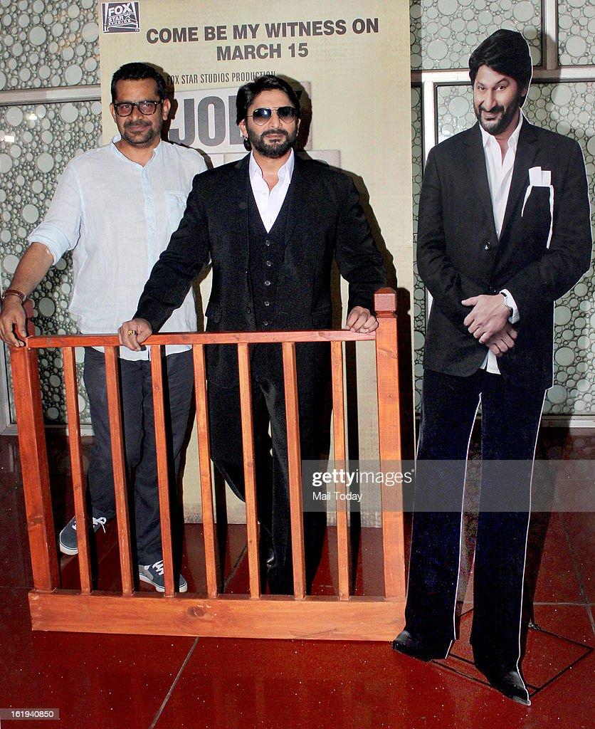 Arshad Warsi promotes film Jolly LLB at Cinemax in Mumbai.
