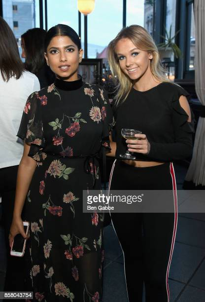 Arshai Moorjani and Iga Obrycka attend the launch of ghd hair North America Nocturne Holiday Campaign with Olivia Culpo Justine Marjan on October 5...