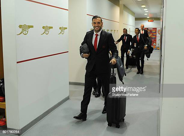Arsneal's Lucas Perez before the Premier League match between Arsenal and Southampton at Emirates Stadium on September 10 2016 in London England