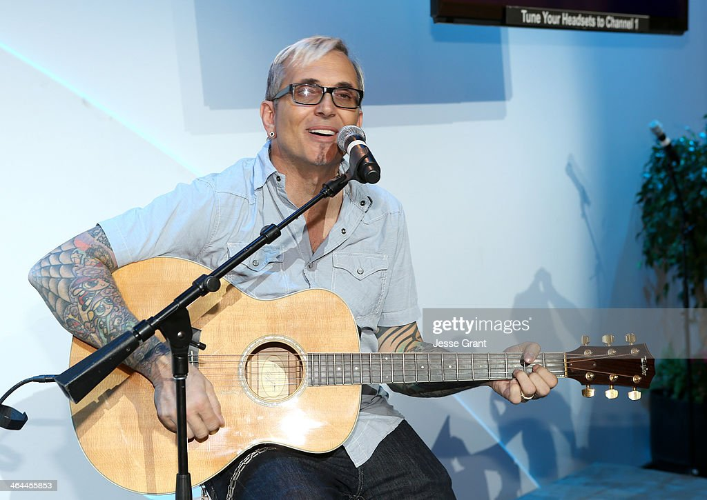 <a gi-track='captionPersonalityLinkClicked' href=/galleries/search?phrase=Art+Alexakis&family=editorial&specificpeople=1064872 ng-click='$event.stopPropagation()'>Art Alexakis</a> of the John Lennon Foundation attends the 2014 National Association of Music Merchants show media preview day at the Anaheim Convention Center on January 22, 2014 in Anaheim, California.