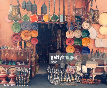 Art and craft shop in Marrakesh, Morocco