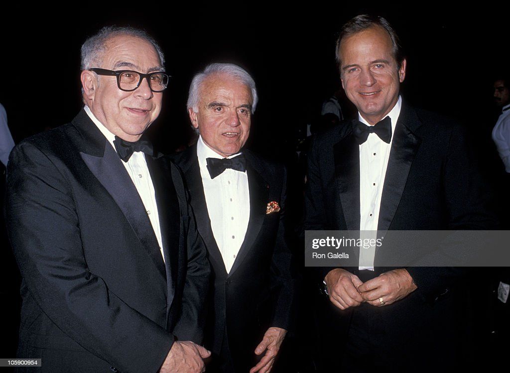 <a gi-track='captionPersonalityLinkClicked' href=/galleries/search?phrase=Art+Buchwald&family=editorial&specificpeople=220909 ng-click='$event.stopPropagation()'>Art Buchwald</a>, <a gi-track='captionPersonalityLinkClicked' href=/galleries/search?phrase=Jack+Valenti&family=editorial&specificpeople=204187 ng-click='$event.stopPropagation()'>Jack Valenti</a> and Peter Uberoth during 5th Annual Academy of Television & Radio Awards at 20th Century Fox Studios in Los Angeles, California, United States.