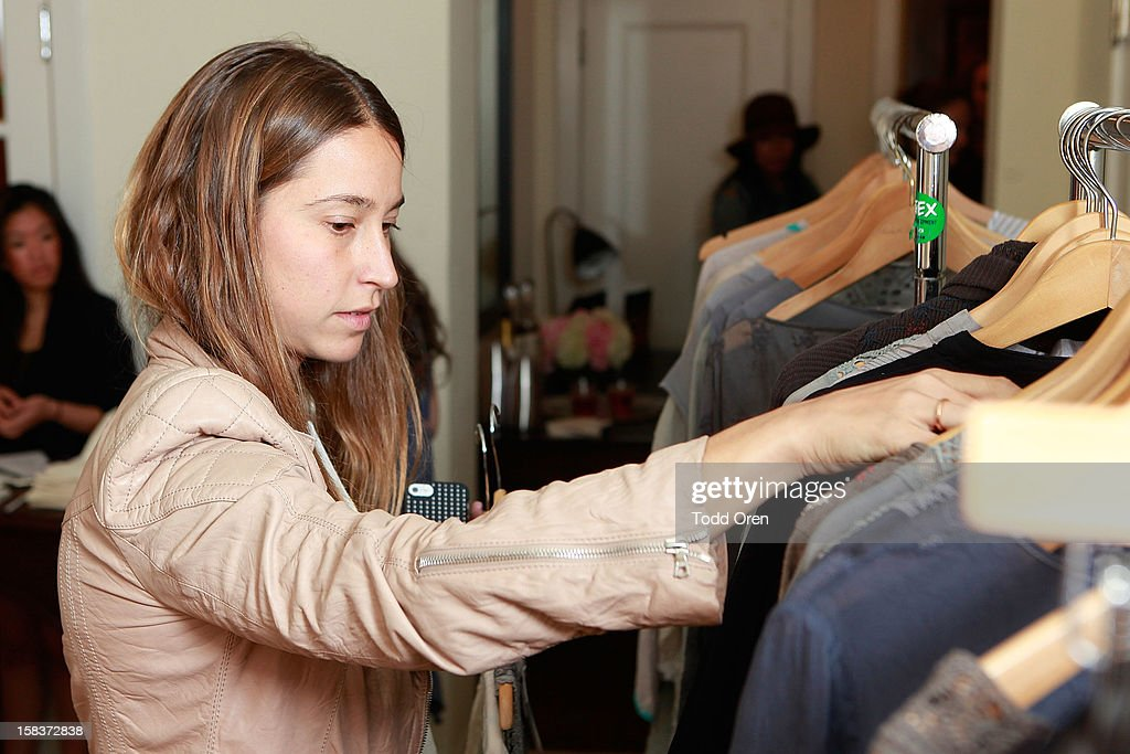 Art buyer Meredith Darrow shops at the Johnny Was Holiday Gifting Suite at Chateau Marmont on December 13, 2012 in Los Angeles, California.