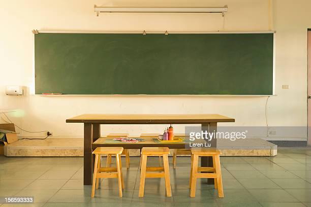 Art classroom in school