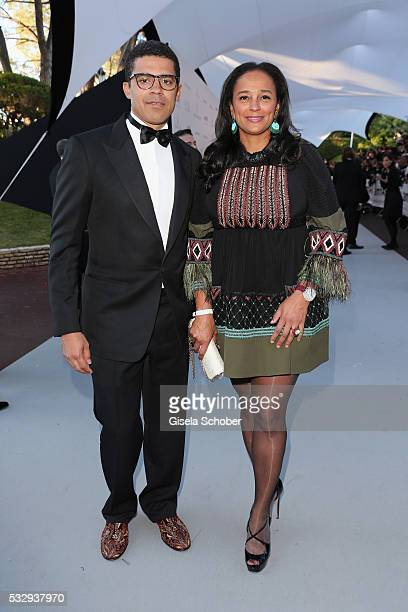 Art collector and businessman Sindika Dokolo and attend investor Isabel dos Santos the amfAR's 23rd Cinema Against AIDS Gala at Hotel du CapEdenRoc...