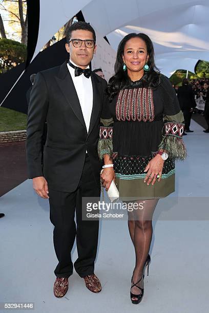 Art collector and businessman Sindika Dokolo and investor Isabel dos Santos attend the amfAR's 23rd Cinema Against AIDS Gala at Hotel du CapEdenRoc...