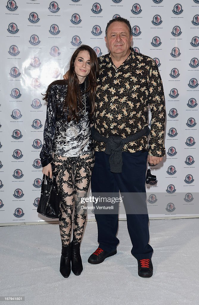 Art collector Jean Pigozzi (R) attends a private dinner celebrating Remo Ruffini and Moncler's 60th Anniversary during Art Basel Miami Beach on December 7, 2012 in Miami Beach, Florida.